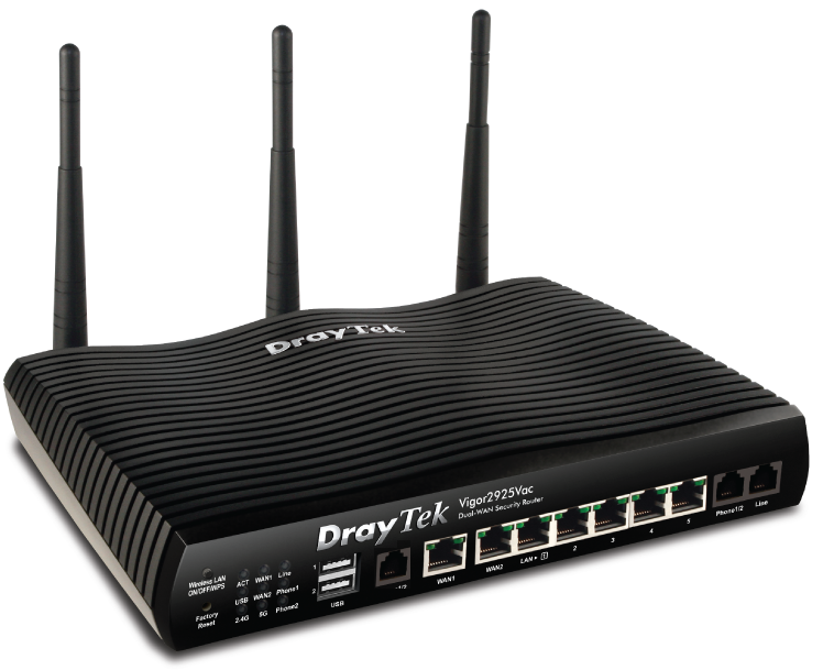 DrayTek Vigor BX2000ac IP PBX and ADSL Router