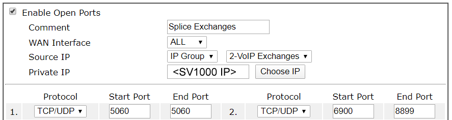 Ports Locked to VoIP Exchanges