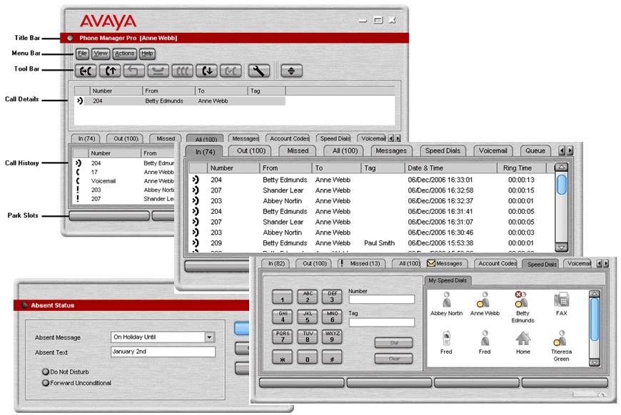 Avaya IP Office Phone Manager Application